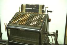Burroughs Accounting Machine mechanical manual/electric w/stand